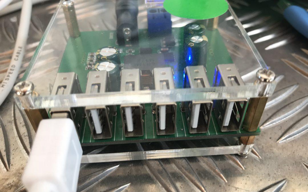 4. USB-Splitter 6-fach mehrfach eingesetzt